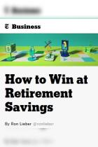 How to Win at Retirement Savings
