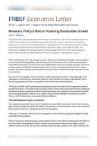 Monetary Policy's Role in Fostering Sustainable Growth