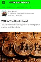 WTF Is the Blockchain?