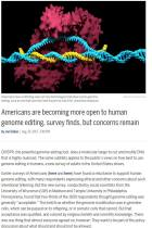 Americans are Becoming More Open to Human Genome Editing, Survey Finds, but Concerns Remain