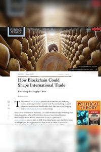 How Blockchain Could Shape International Trade summary