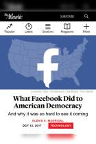 What Facebook Did to American Democracy