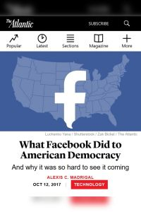 What Facebook Did to American Democracy summary