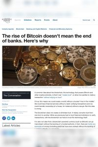 The rise of Bitcoin doesn't mean the end of banks. Here's why summary