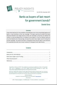 Banks as buyers of last resort for government bonds? summary