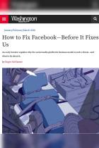 How to Fix Facebook – Before It Fixes Us
