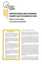 Opportunities Amid Disorder
