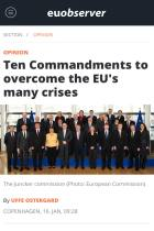 Ten Commandments to Overcome the EU's Many Crises