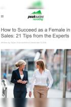 How to Succeed as a Female in Sales