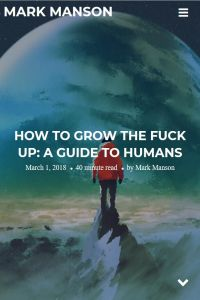 How to Grow the Fuck Up summary