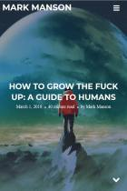 How to Grow the Fuck Up