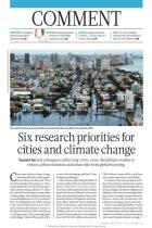 Six Research Priorities for Cities and Climate Change