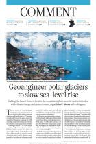 Geoengineer Polar Glaciers to Slow Sea-Level Rise