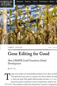Gene Editing for Good summary