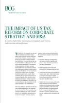 The Impact of US Tax  Reform on Corporate Strategy and M&A