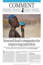 Reward Food Companies for Improving Nutrition