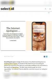 The Internet Apologizes… summary