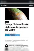 6 Steps IT Should Take Right Now to Prepare for GDPR
