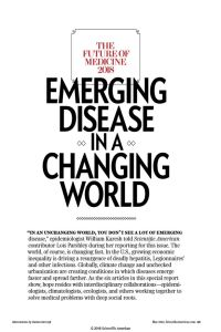 Emerging Disease in a Changing World summary