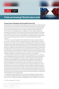 Trade War Brewing?  summary