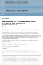 Policies to Ensure Asia's Sustained Economic Success