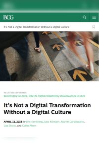 It's Not a Digital Transformation Without a Digital Culture summary