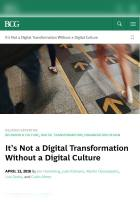 It's Not a Digital Transformation Without a Digital Culture