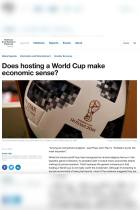 Does hosting a World Cup make economic sense?
