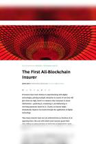The First All-Blockchain Insurer