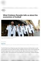 What Cristiano Ronaldo tells us about the economics of football