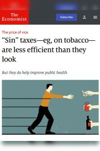 """Sin"" Taxes – e.g., on Tobacco – Are Less Efficient than They Look summary"