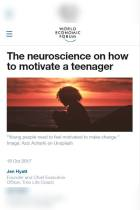 The Neuroscience on How to Motivate a Teenager