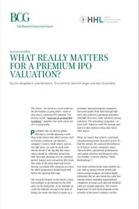 What Really Matters for a Premium IPO Valuation? summary