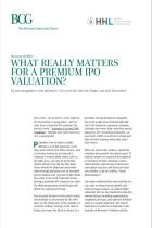 What Really Matters for a Premium IPO Valuation?
