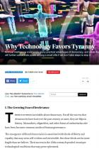 Why Technology Favors Tyranny