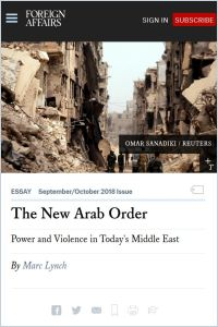 The New Arab Order summary