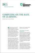 Competing on the Rate of Learning