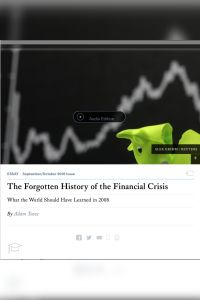 The Forgotten History of the Financial Crisis summary