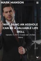 Why Being an Asshole Can Be a Valuable Life Skill