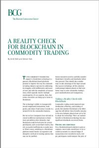 A Reality Check for Blockchain in Commodity Trading summary
