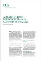 A Reality Check for Blockchain in Commodity Trading