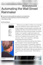 Automating the Wall Street Rainmaker
