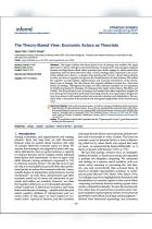 The Theory-Based View: Economic Actors as Theorists