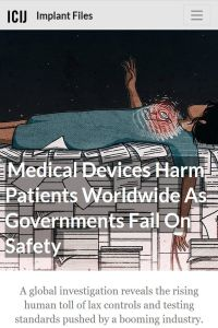 Medical Devices Harm Patients Worldwide as Governments Fail on Safety summary