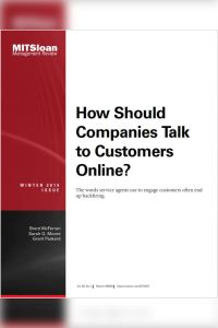 How Should Companies Talk to Customers Online? summary