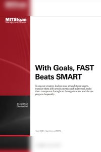 With Goals, FAST Beats SMART summary
