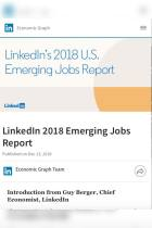 LinkedIn 2018 Emerging Jobs Report