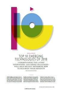 Top 10 Emerging Technologies of 2018 summary
