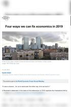 Four Ways We Can Fix Economics in 2019