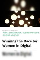 Winning the Race for Women in Digital